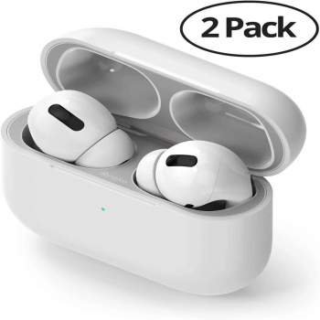 Ringke AirPods Pro Dust Guard Sticker (2pack) Silver