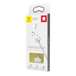 Baseus AirPods 2/1 Earphone Strap White (ACGS-A0G)