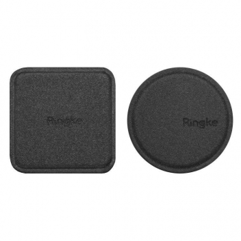 Ringke PU Leather Covered Metal Plate (1+1 pack) Black