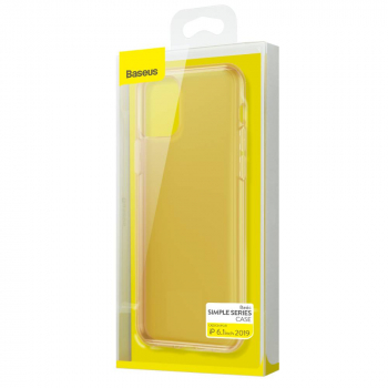 Baseus iPhone 11 case Simplicity Series (basic model) Transparent Transparent Gold (ARAPIPH61S-0V)