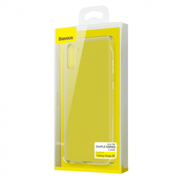 Baseus Samsung Note 10 case Simple Series (Anti-fall TPU) Transparent (ARSANOTE10-02)