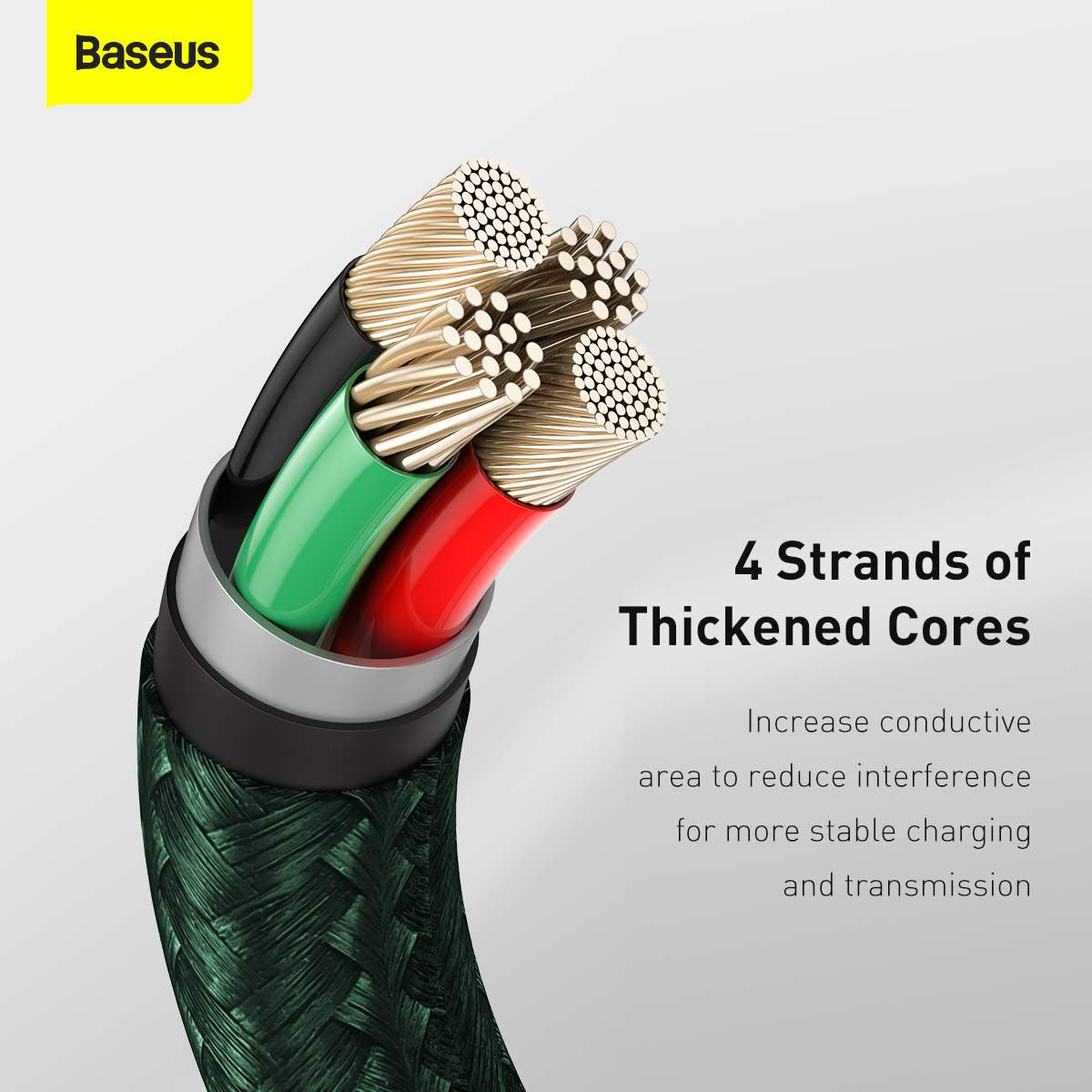 Baseus Lightning Cafule Series Metal data cable 2.4A 2m Green (CALJK-B06)