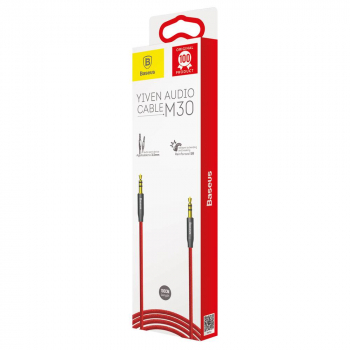 Baseus Audio Yiven M30 Cable 1m Red/Black (CAM30-B91)