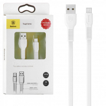Baseus Micro USB Tough series Cable 2A 1m White (CAMZY-B02)