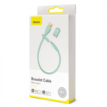 Baseus Bracelet cable USB For Type-C 0.22m 3A Mint Green (CATFH-06A)