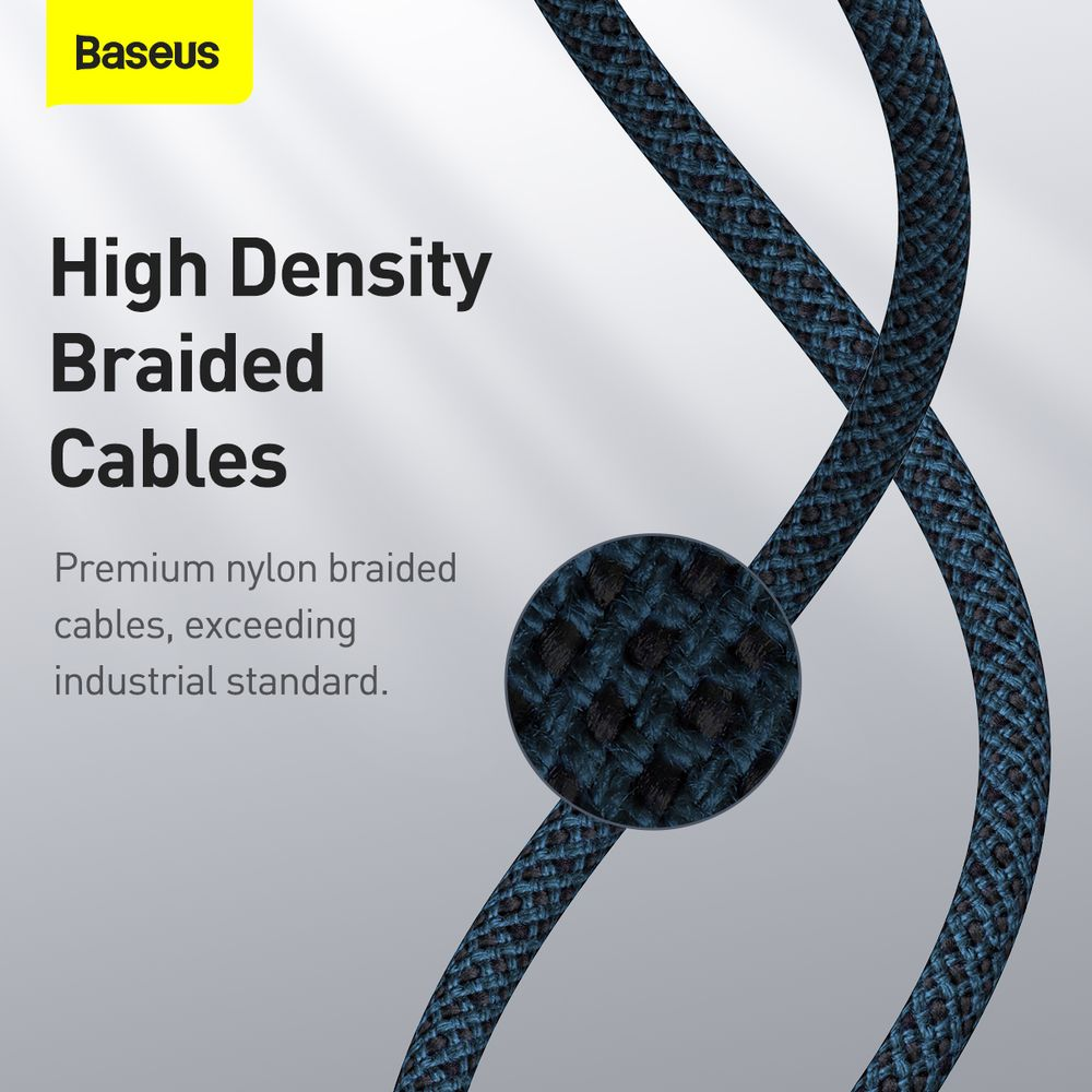Baseus Type-C - Type-C cable High Density Braided Fast charge/data 100W (20V/5A) 2m Blue (CATGD-A03)