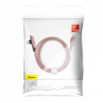 Baseus Type-C - Lightning Colourful Elbow angled cable with side plug 18W 1.2m Pink (CATLDC-A04)