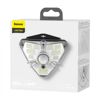 Baseus Home Energy Collection Series Solar Human Body Induction Wall Lamp Triangle Black (DGNEN-A01)
