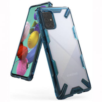 Ringke Galaxy A71 Case Fusion X Space Blue