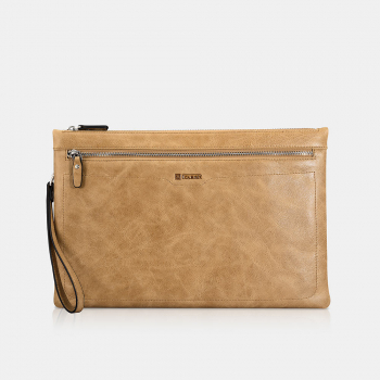 iCarer Universal Laptop Sleeve Shenzhou Real leather Zipper Brown