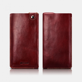 iCarer Tool Universal Case Vegetable Tanned Leather 4.7inch Red