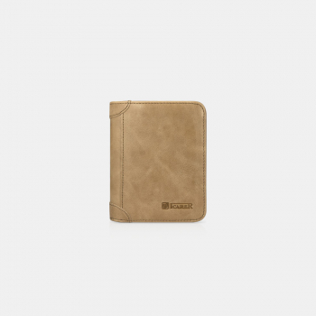 iCarer Tool Wallet Vegetable Tanned Leather Multifunction Light Brown