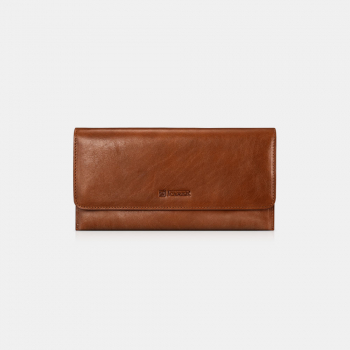 iCarer Tool Wallet Vegetable Tanned Leather Ultra-thin Dark Brown