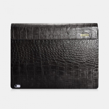 iCarer Microsoft Surface Book Case Crocodile Genuine Leather Black