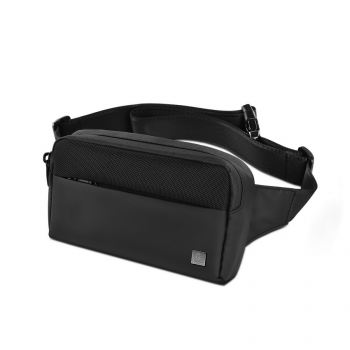 WiWU Bag Metro Mate Fanny waist bag adjustable strap waterproof Black