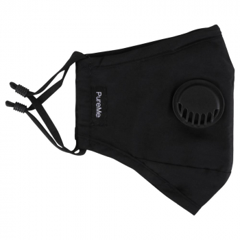 PureMe Reusable / Adjustable Mask Cotton 2 pcs N95 filters inside the package Black