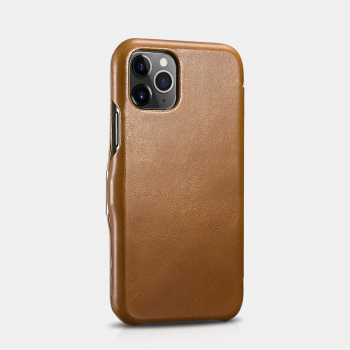 iCarer iPhone 11 Pro (5.8) Case Vintage Series Side-open(metal clip in the front) Brown