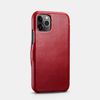 iCarer iPhone 11 Pro (5.8) Case Vintage Series Side-open(metal clip in the front) Red