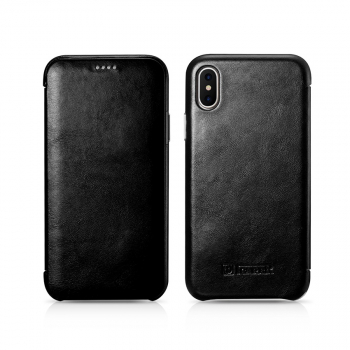 iCarer iPhone X/XS Case Curved Edge Vintage Series Black