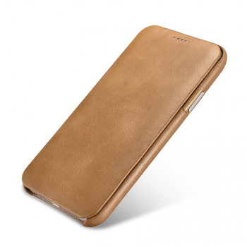 iCarer iPhone X/XS Case Curved Edge Vintage Series Brown