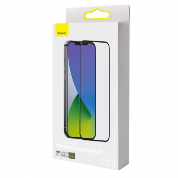 Baseus iPhone 12 mini 0.3 mm Full-screen curved Tempered Glass (2pcs/pack) Black (SGAPIPH54N-KA01)