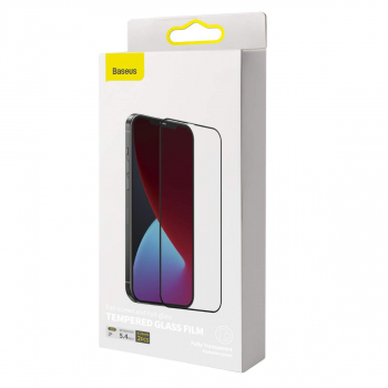 Baseus iPhone 12 mini 0.25 mm Full-screen full-glass Tempered Glass (2pcs) Black (SGAPIPH54N-KC01)