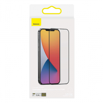 Baseus iPhone 12 mini 0.23mm Curved Tempered glass crack-resistant edge (2pcs) Black SGAPIPH54N-PE01