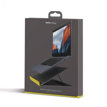 Baseus MacBook and Laptop Lets go Mesh Portable Stand between 11-16 inch Gray/Yellow (SUDD-GY)