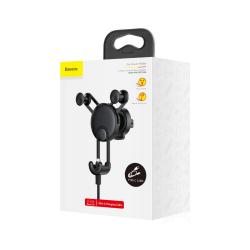 Baseus Car Mount YY vehicle-mounted phone charging holder with cable (Type-C) Black (SUTYY-01)