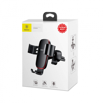 Baseus Car Mount Metal Age Gravity Phone Holder (Air outlet Version) Black (SUYL-D01)