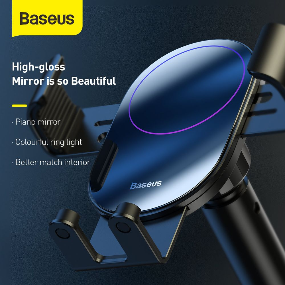 Baseus Car Mount Simplism Gravity Phone holder with suction base Black (SUYL -JY01)