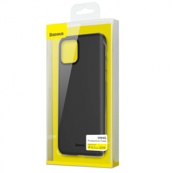 Baseus iPhone 11 case Wing Solid Black (WIAPIPH61S-A01)