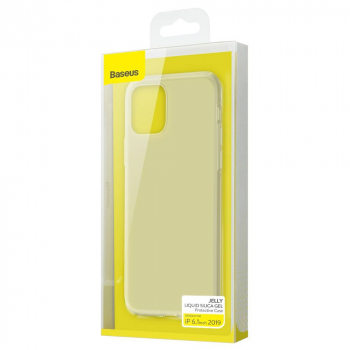 Baseus iPhone 11 case Jelly Liquid Silica Gel Protective Transparent White (WIAPIPH61S-GD02)