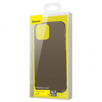 Baseus iPhone 12 Pro Max case Frosted Glass Black (WIAPIPH67N-WS01)