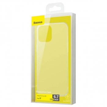 Baseus iPhone 12 Pro Max case Frosted Glass White (WIAPIPH67N-WS02)