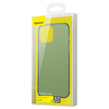 Baseus iPhone 12 Pro Max case Frosted Glass Dark green (WIAPIPH67N-WS06)