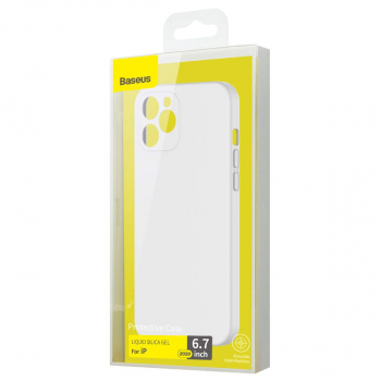 Baseus iPhone 12 Pro Max case Liquid Silica Gel Ivory white (WIAPIPH67N-YT02)