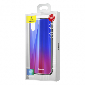 Baseus iPhone X case Laser Luster Blue + Red (WIAPIPHX-XC39)