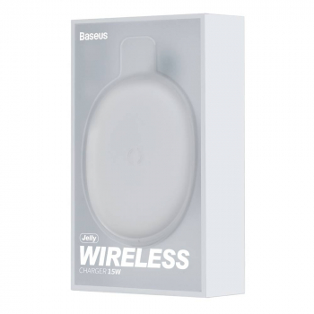 Baseus Wireless Charger Jelly QC 3.0 15W White (WXGD-02)