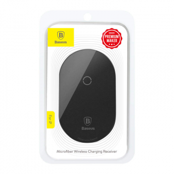 Baseus Wireless Charging Receiver Microfiber (for Lightning) Black (WXTE-A01)