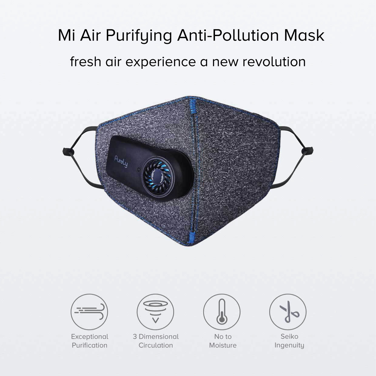 Xiaomi Mi Purely Anti-Pollution Air Face Mask 550mAh Battery