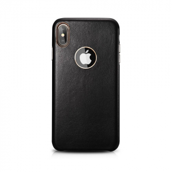 XOOMZ iPhone XS Max Case Real Lamb Leather Black